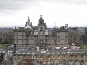 School upon which Hogwarts was based, from mound of Edinburgh Castle