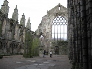 Holyrood Abby from 12th Century