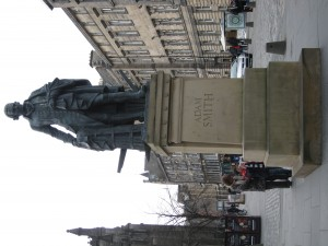 Statue of Adam Smith, famous Scottish theorist