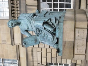 David Hume Statue in Edinburgh