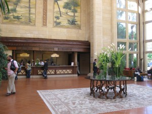 Lobby of Resort